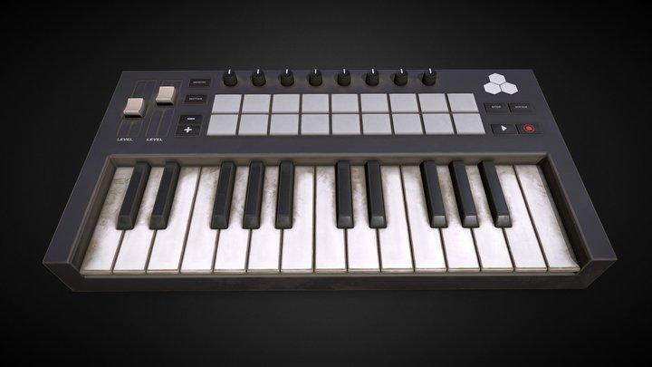 Teclado - Musical keyboard 3D Model