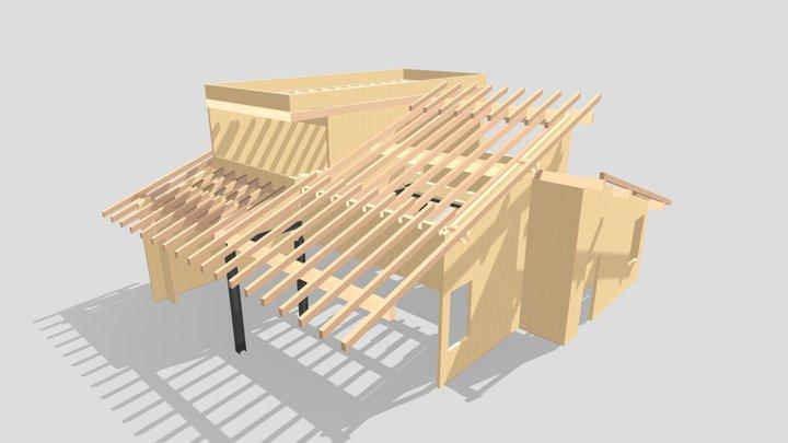 Cross Laminated Timber villa in Seriate -BG 3D Model