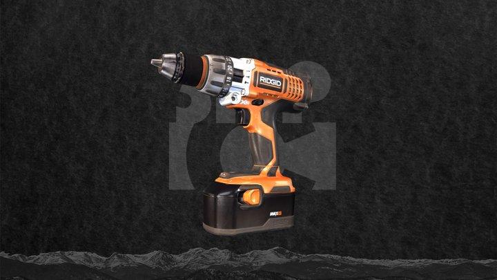 Power Drill 3D Scan by Artec 3D 3D Model