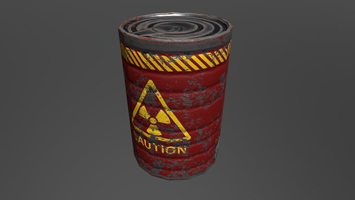Rusted Can 3D Model