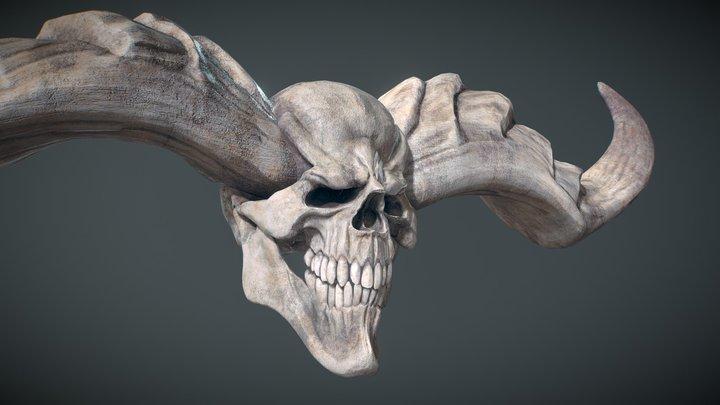 Horned Infernal Duke's Head 3D Model