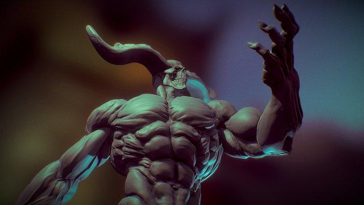 Horned Infernal Duke 3D Model