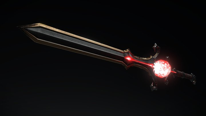 Blade low poly 3D Model
