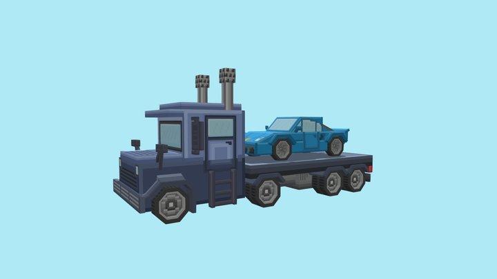 Truck & Car 3D Model