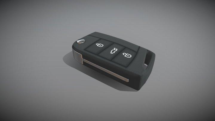 Electronic Car Key 3D Model
