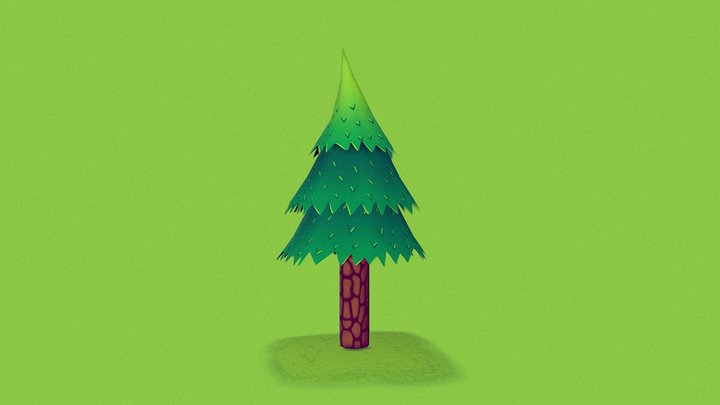 Pine Tree - Lowpoly Test 3D Model