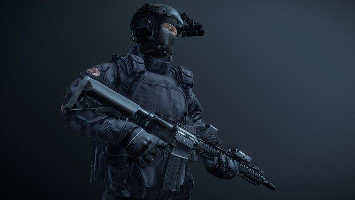SWAT operator 3D Model