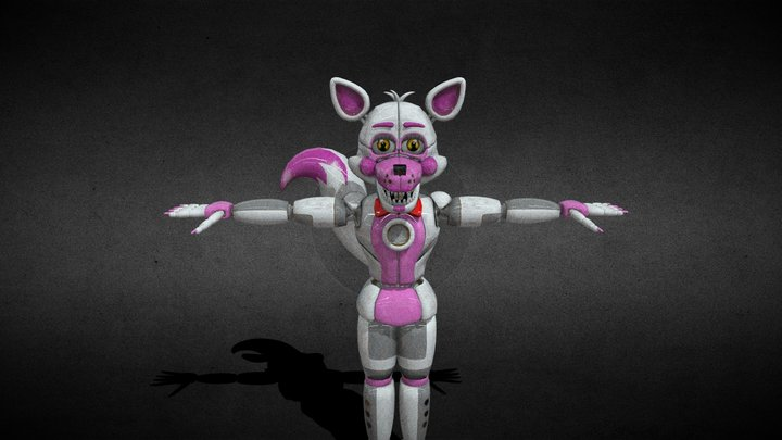 Funtime Foxy help wanted 3D Model
