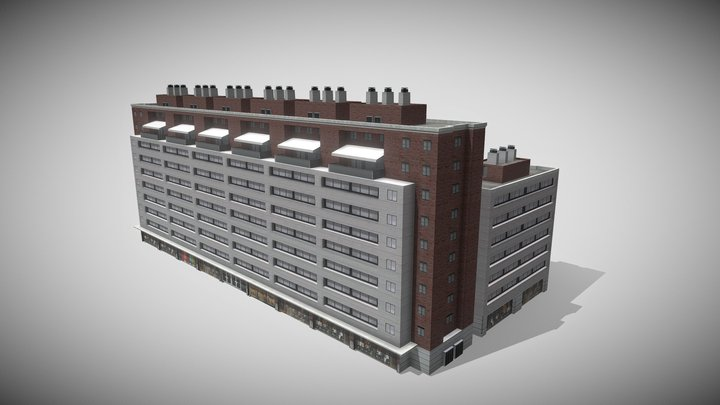 Low Rise Modern Condo 3 3D Model