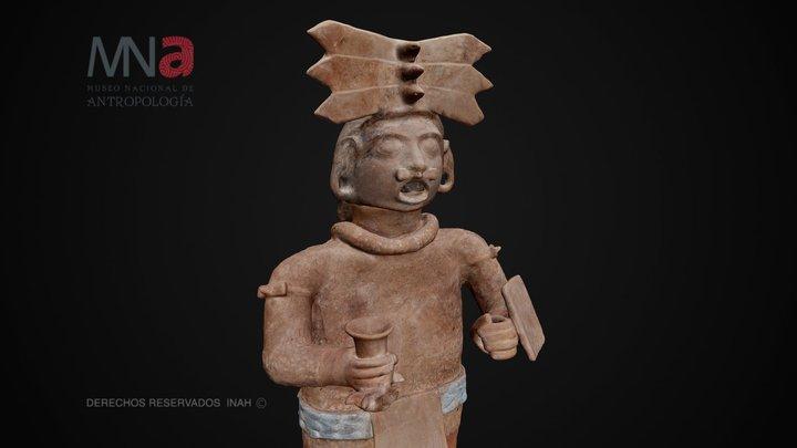Escultura Xipe Tótec en Teotihuacan 3D Model