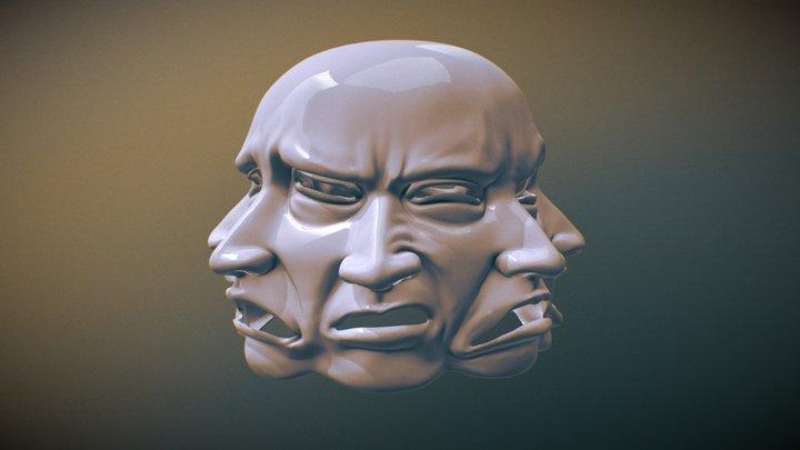Multiple Expression Mask - 3D Printable 3D Model