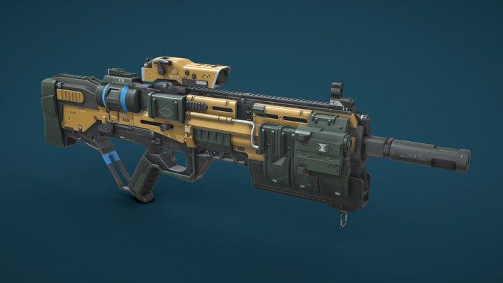 Xen SLR Rifle 3D Model