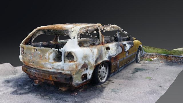 Burned out Car 2 3D Model