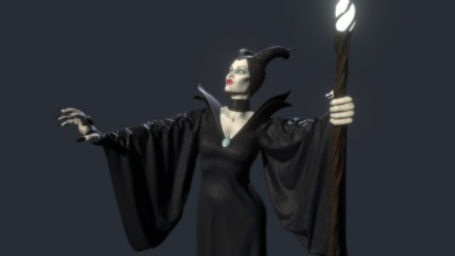 Maleficent 3D Model