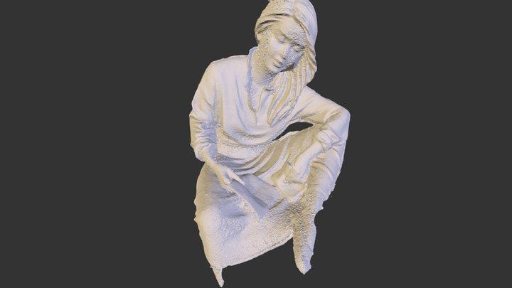sitting girl 3D Model