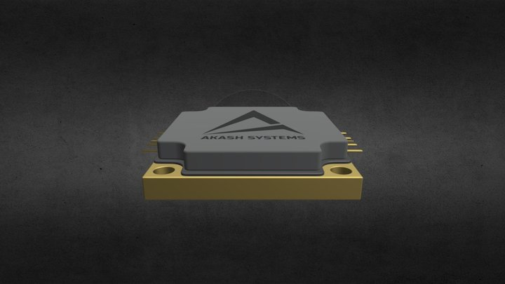 Akash Systems RF Chip 3D Model