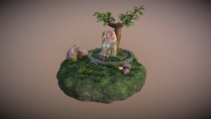 Ancient Alien Monument 3D Model