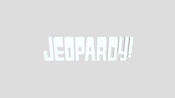 Jeopardy 3D Model