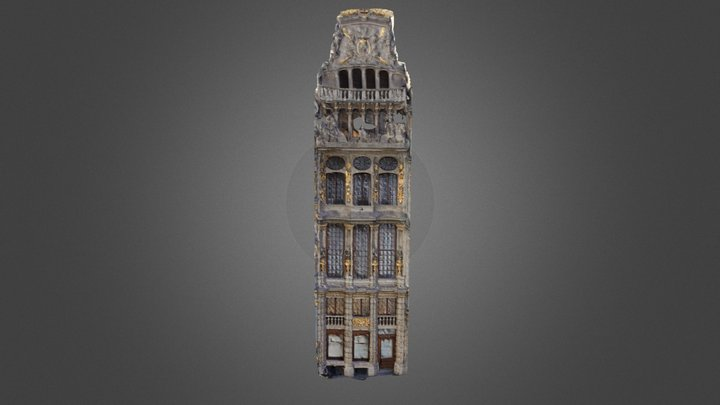 Le Cornet guildhall, Brussels 3D Model