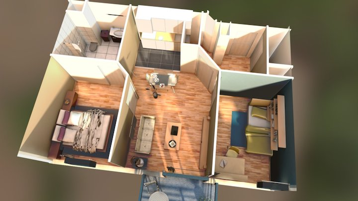 interior appartemeent presentation 3D Model