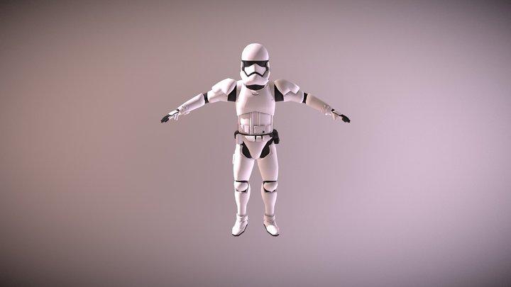 Trooper First Order 3D Model