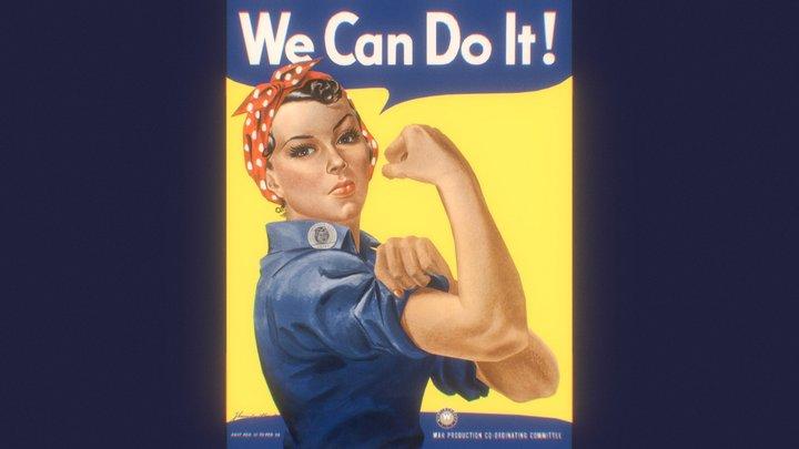 We Can Do It! 3D 3D Model