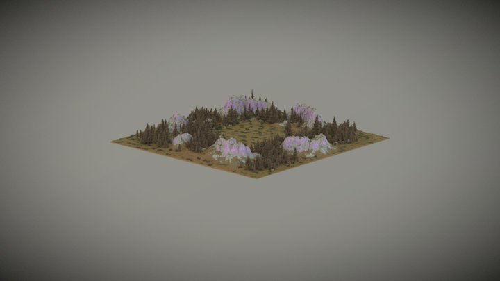 small mountain warzone1 3D Model