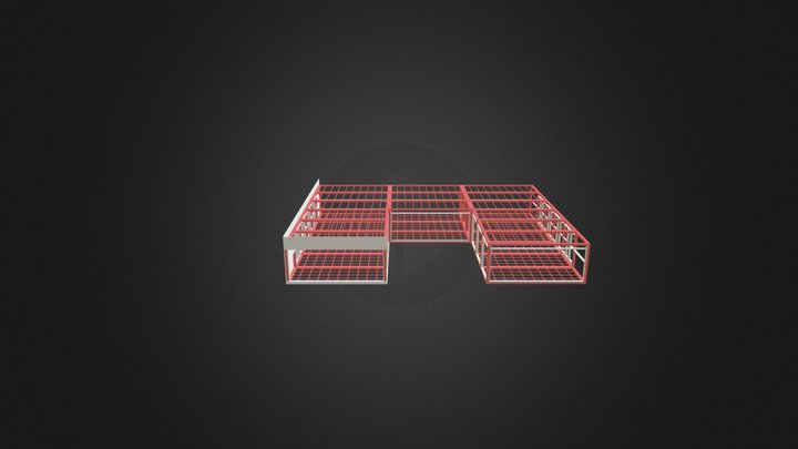 Container Vertical Paneling Frame 2 1 3D Model