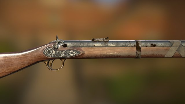 Enfield Rifle 3D Model