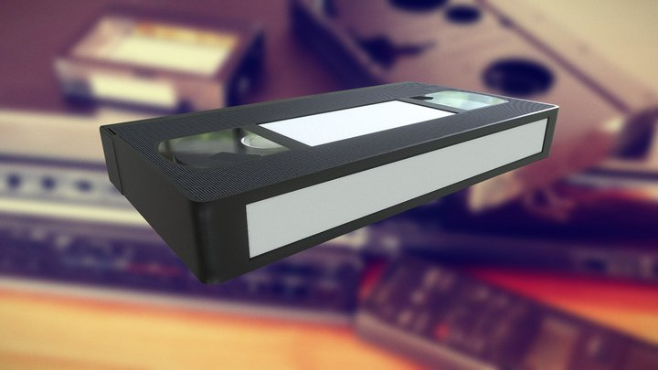 VHS Tape Retro 3D Model