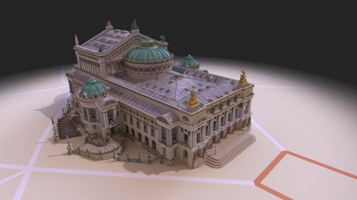 Opera Garnier 3D Model