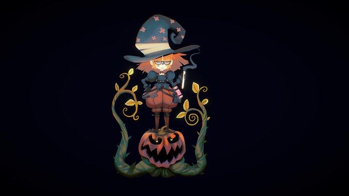 Pumpkin Witch 3D Model