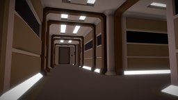 Low Poly Corridor - [Star Trek] 3D Model