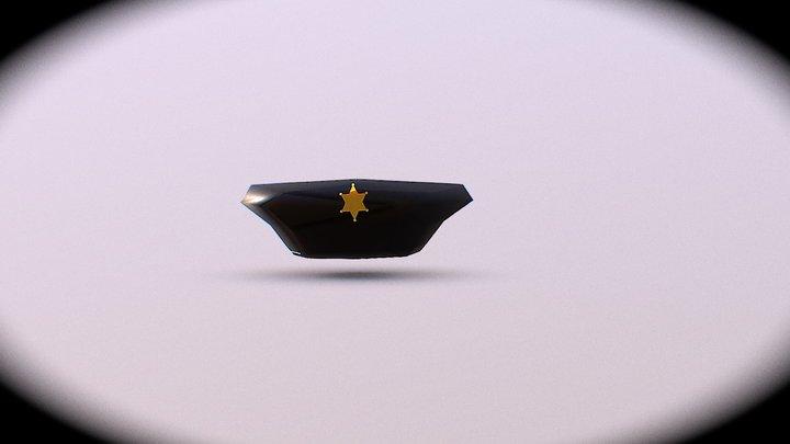 Lowpoly Police Hat 3D Model
