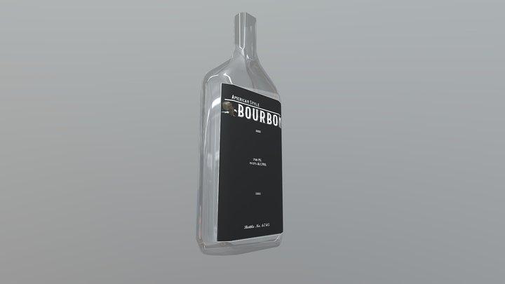 Bourbon Bottle 3D Model