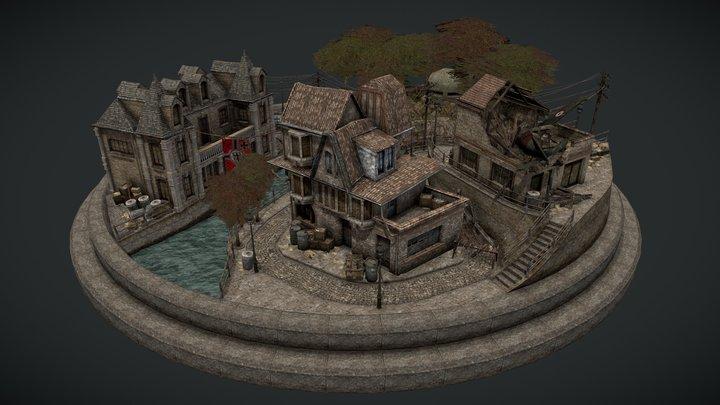 WW2 - City Scene 3D Model