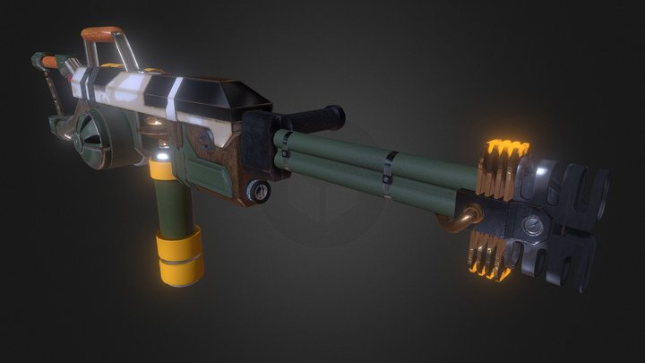 Refurbished Flame Thrower 3D Model