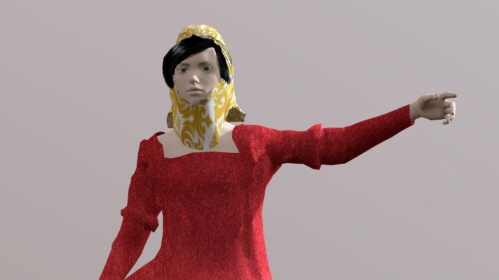 Eleonora d'Arborea 3D Model