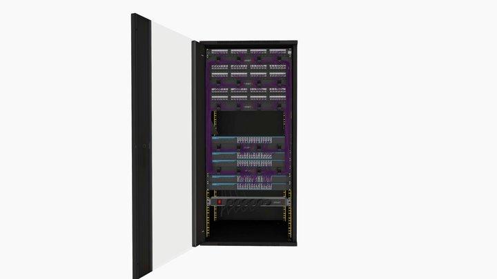 OPENETICS - UniRack 25U - 6A FTP 3D Model