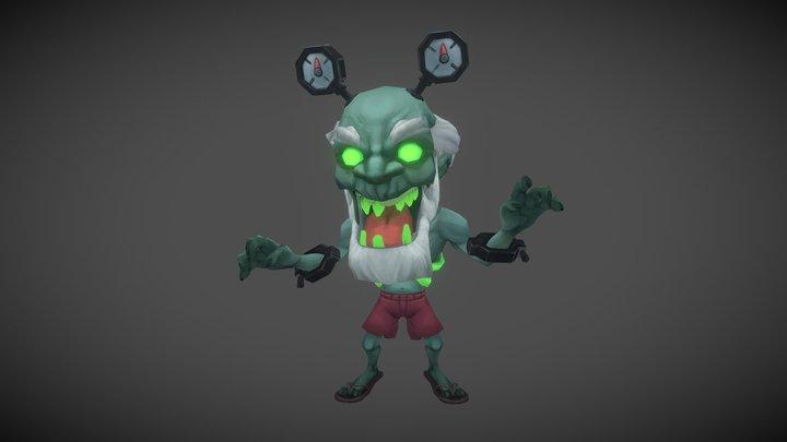 Zombo Character 3D Model