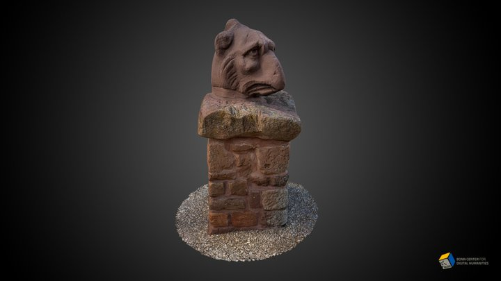 Head of a griffin from a roman burial monument 3D Model