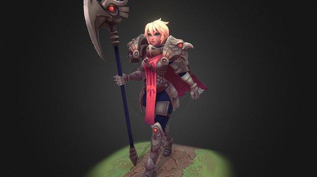 Knight Girl 3D Model
