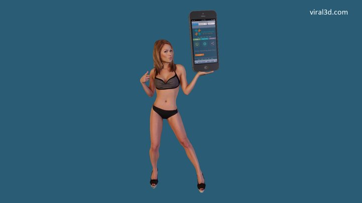 Misty With A Big I Phone - V2 3D Model