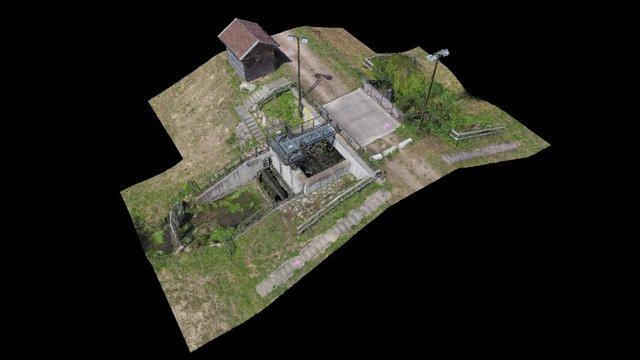 Flood detention facility 3D Model