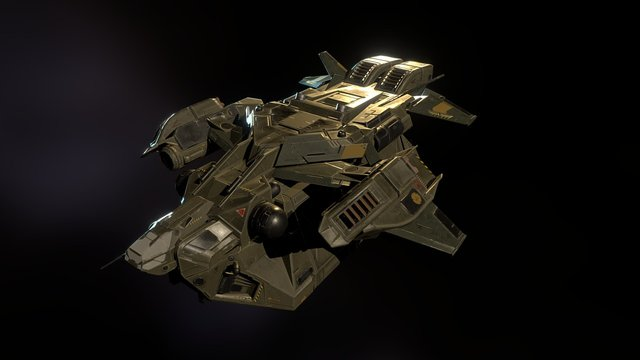 Spaceship (retopology and texturing) 3D Model