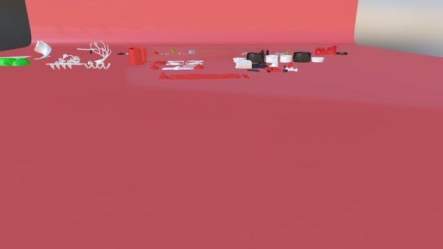 Santas New Sleigh Anim 3D Model