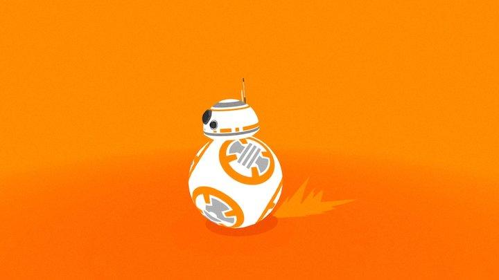 BB-8 rolling robot 3D Model