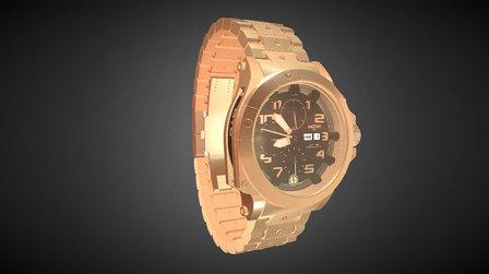 Clock Gold test 3D Model