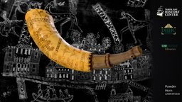 Engraved Powder Horn with Map 3D Model