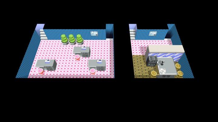 Radio Tower - Goldenrod City - Pokemon G/S/C 3D Model